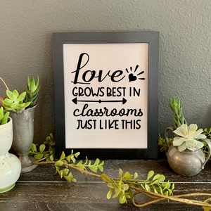 "classroom picture, ""Love Grows Best in Classrooms Just Like This"""