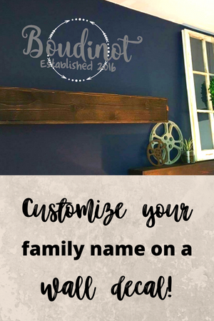 Arrow Family Name Wall Decal - The Artsy Spot