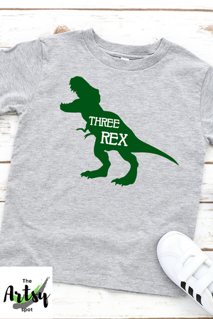 Three Rex shirt, 3rd birthday shirt, Dinosaur shirt
