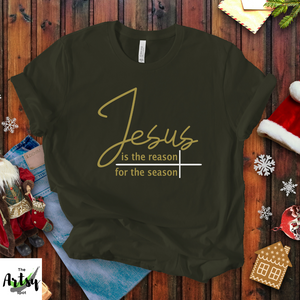 Jesus is the reason for the season shirt, Jesus shirt, Christmas shirt, Faith based apparel, Faith based Christmas t-shirt, Christian shirt