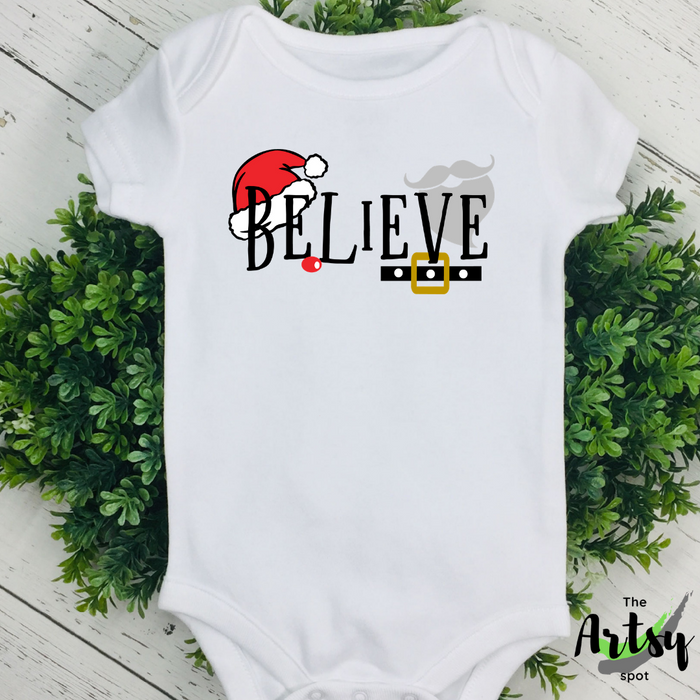 Believe, Christmas infant bodysuit