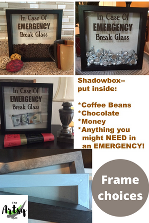 DECAL ONLY for DIY Shadow Box-In Case Of Emergency Break Glass - The Artsy Spot