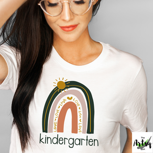 1st day of kindergarten shirt, Kindergarten teacher shirt, rainbow kindergarten shirt, Back to school t-shirt