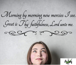 Great is thy Faithfulness Wall Decal - The Artsy Spot