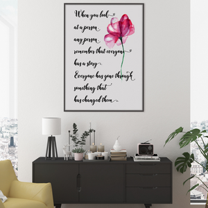 Cancer survivor print, Cancer treatment center decor