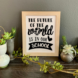 Picture for school office, Principal gift for boss's day, Future of the world picture