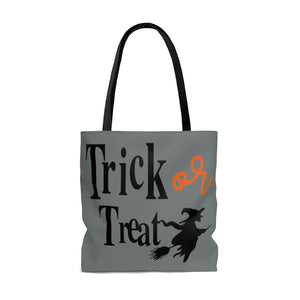 trick or treat bag, Halloween bag, Halloween tote bag, Fall tote bag, Halloween gift, fall grocery bag, bag with witch