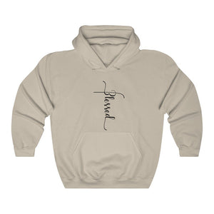 Blessed Cross Hooded Sweatshirt, Blessed Hoodie - The Artsy Spot