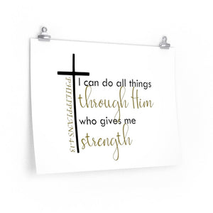 Philippians 4:13 wall print, I can do all things through Christ wall print