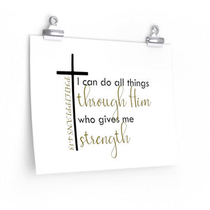 I can do all things through Christ poster, Christian home decor