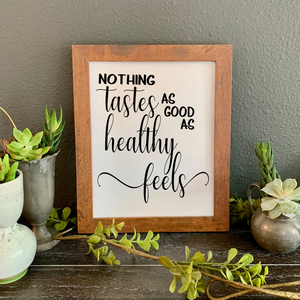 Nothing tastes as good as healthy feels, School Nurse Appreciation gift, nutritionist gift, dietician graduation gift, Health coach gift, dietician gift idea
