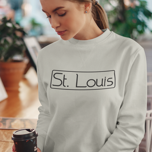 St. Louis sweatshirt, St. Louis shirt, St. Louis apparel, St. Louis gift, Saint Louis apparel, Unisex Crewneck Sweatshirt