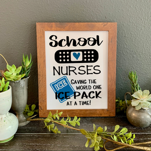School Nurses picture, School nurse wall decor, Funny school nurse gift