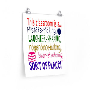 gift gift for a new teacher, poster for back to school, Classroom poster