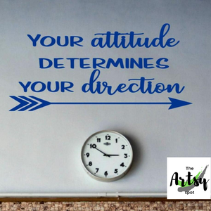 Your attitude determines your direction with arrow wall decal, child's bedroom, classroom wall decal