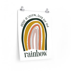 after a storm look for the rainbow, Classroom rainbow classroom decorations, bedroom rainbow decor