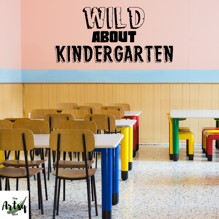 Wild about Kindergarten decal, Jungle theme for ANY grade