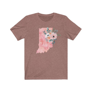 Indiana home state shirt, Watercolor Indiana shirt, Indiana state shirt, heather mauve