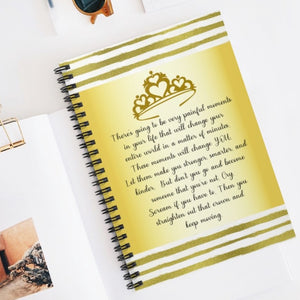 Straighten your crown Journal, Daughter of a King Notebook, Christian woman gift, bible study journal, Christian friend gift, daughter gift