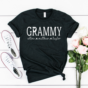 Personalized Grammy shirt with grandkid's names, Custom Grammy shirt, Gift for Grammy, shirt for Grammy, shirt for new Grandma
