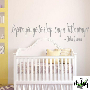 Before You Go to Bed Say a Little Prayer Wall Decal