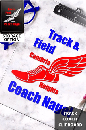 Track and Field Clipboard, Track coach gift, Pinterest image