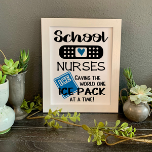 School Nurses sign, Funny school nurse wall decor, cute school nurse gift