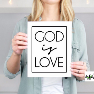 God is Love Print - The Artsy Spot