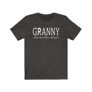 Personalized Granny shirt with grandkid's names, Granny birthday gift, Granny reveal gift, Custom shirt for Granny