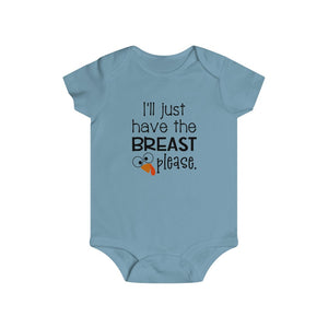 I'll just have the breast please, infant bodysuit, Baby Thanksgiving onesie, Thanksgiving bodysuit, funny baby onesie