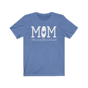 personalized Mom shirt with kid's names, Custom Mom shirt, Gift for Mom, shirt for mom, Custom mom shirt