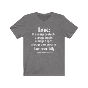 The Love Chapter Shirt, Valentine's Day shirt,  Deep Heather Love shirt, Love is patient, love is kind shirt