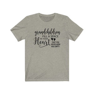 Grandchildren Fill a Space in Your Heart, Shirt - The Artsy Spot