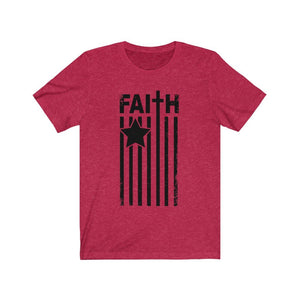 Faith Flag Shirt, black text - The Artsy Spot