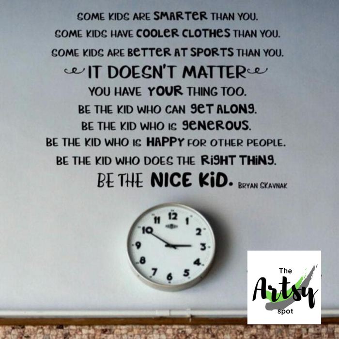 Be the Nice Kid decal