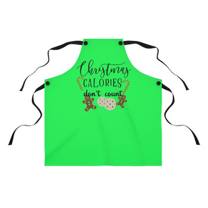 Christmas Calories don't count Apron, Christmas apron, Christmas cookie exchange gift, Christmas cookie apron, Christmas gift for baker, Christmas gift for mom
