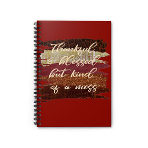 Thankful and Blessed but Kind of a Mess, Fall Notebook, Spiral Notebook, Fall bible study journal, Funny journal, notebook for journaling, funny Christian friend gift