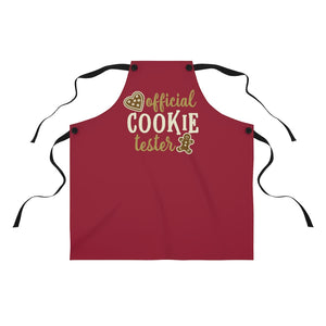 Official Cookie Tester apron, Christmas apron, Christmas cookie apron, Mom Christmas gift