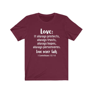 The Love Chapter Shirt, Valentine's Day shirt,  Maroon Love shirt, Love is patient, love is kind shirt