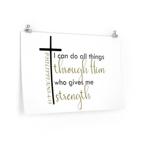 Philippians 4:13 poster, Christian poster, Church office picture