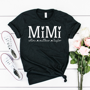 Personalized Mimi shirt with grandkid's names, Gift for Mimi, MOther's day gift