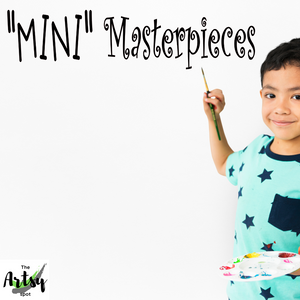 Mini Masterpieces decal, Children's artwork display decal, Art display decal