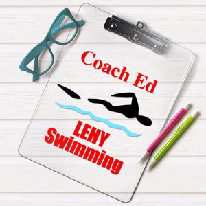 Swimming coach clipboard, Swimming coach gift, Diving coach gift