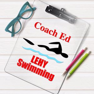 Diving Coach Clipboard - The Artsy Spot
