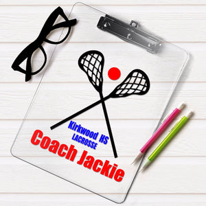 personalized lacrosse clipboard, lacrosse player gift, lacrosse coach gift