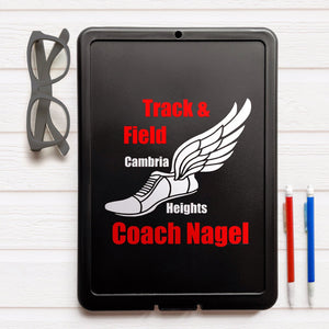 Personalized Track and Field coach clipboard, Track coach gift