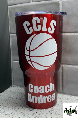 Basketball coach Gift, Basketball tumbler