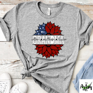 Personalized Grandma shirt with grandkid's names, Patriotic grandma shirt, mom shirt, nana shirt, gaga shirt, mimi shirt, Mamaw shirt, Nanny shirt, Grammy shirt
