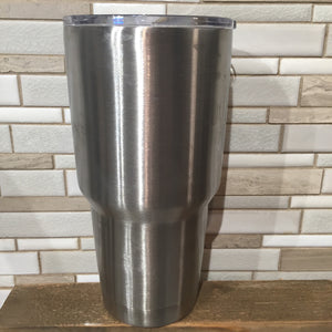 Silver stainless tumblers for the basketball tumbler design  Edit alt text