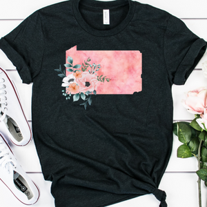 Pennsylvania home state shirt, Pennsylvania gift, Pennsylvania state shirt, watercolor state shirt